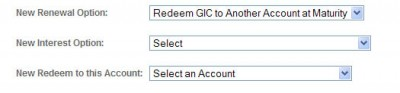 Image of instructions to cash out a GIC at maturity
